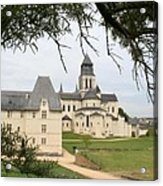 Cloister Fontevraud View - France Acrylic Print