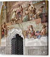 Cloister Fresco Acrylic Print by Joan Carroll