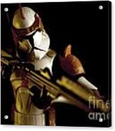 Clone Trooper 2 Acrylic Print by Micah May