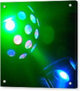 Close Contact With A Green Ufo Acrylic Print