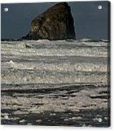 Close Haystack Rock Acrylic Print
