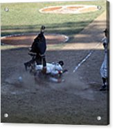 Close Play At The Plate  Acrylic Print