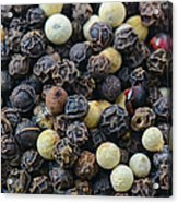 Close Up Background Of Multi Color Peppercorn Acrylic Print