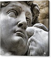 Close-up Face Statue Of David In Florence Acrylic Print