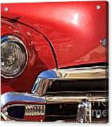 Close Up Of A Red Chevrolet Acrylic Print