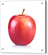 Close-up Of Apple Against White Background Acrylic Print