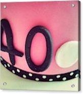 Close-up Of Birthday Cake Acrylic Print