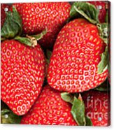 Close Up Of Delicious Strawberries Acrylic Print