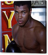 Close Up Of Muhammad Ali Acrylic Print by Retro Images Archive