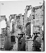 Close Up Of Remains Of Upper Deck In The Old Roman Collosseum At El Jem Tunisia Acrylic Print