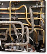 Close-up Of Tangled Pipes Acrylic Print