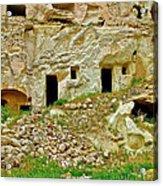 Close-up Of Tufa-carved Homes In Cappadocia-turkey Acrylic Print