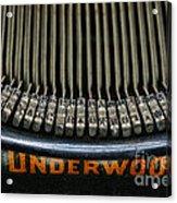 Close Up Of Vintage Typewriter Keys. Acrylic Print