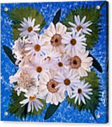 Close Up Of White Daisy Bouquet Acrylic Print