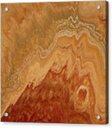 Close-up One Of Agate Seven From The Poured Agate Painting Collection Acrylic Print