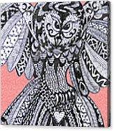 Close Up Owl Pink Acrylic Print
