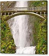 Close Up View Of Multnomah Falls In The Columbia River Gorge Of Oregon Acrylic Print
