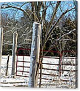 Closed Gate In Winter  Acrylic Print