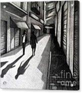Closed Shops Acrylic Print by Kostas Koutsoukanidis