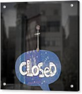 Closed Sleep Tight Acrylic Print