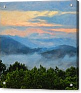 Closer To Heaven In The Blue Ridge Mountains Acrylic Print