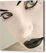 Closeup Of A Womans Face Acrylic Print by Darren Greenwood