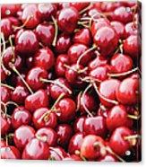 Closeup Of Fresh Cherries Acrylic Print