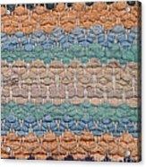 Closeup Of Old Rag Rug Acrylic Print
