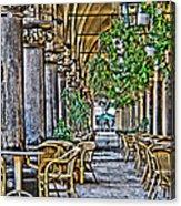 Cloth Hall Cafe In Krakow Acrylic Print