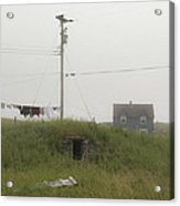Clothes Line And Fog Acrylic Print