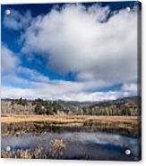 Cloud Above Dry Lagoon Acrylic Print