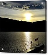 Cloud Chasing - Skaha Lake 4-2-2014  Acrylic Print