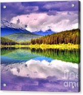 Cloud Cover On Lake Patricia Acrylic Print