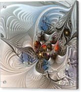 Cloud Cuckoo Land-fractal Art Acrylic Print by Karin Kuhlmann