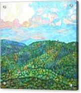 Cloud Dance On The Blue Ridge Acrylic Print