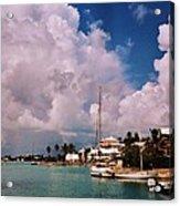 Cloud Faces Over St. George's, Bermuda Acrylic Print