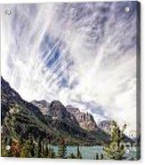 Cloud Formation At Saint Mary Lake Acrylic Print