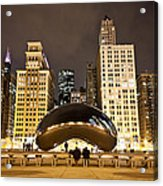 Cloud Gate And Skyscrapers Acrylic Print