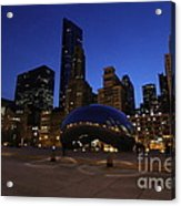 Cloud Gate Chicago At Sunset Acrylic Print