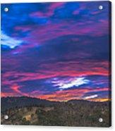 Cloud Movement At Sunset Acrylic Print