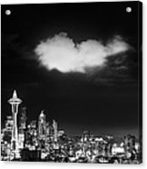 Cloud Over Seattle - Vertical Acrylic Print