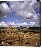 Cloud Passing Across The Cuillin Main Ridge And Bla Bheinn From Tokavaig Sleat Isle Of Skye Scotland Acrylic Print