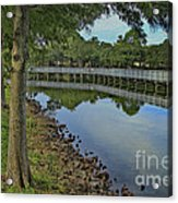 Cloud Reflection At The Pond Acrylic Print