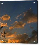Cloud Series 30 Of Sunset Acrylic Print