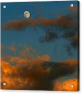 Cloud Series 36 Of Sunset With Moonrise Acrylic Print