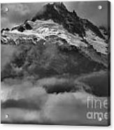 Cloud Smothered Peaks Acrylic Print