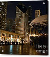 Cloudgate In Snow Acrylic Print