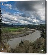Clouds Above Eel River Acrylic Print