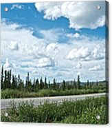 Clouds Above Taylor Highway To Chicken-ak Acrylic Print