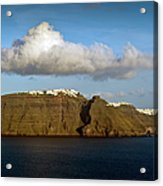 Clouds And Cliffs Acrylic Print